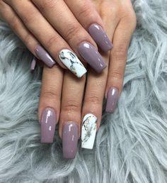 """13 Likes, 1 Comments - Nail It & Spa (@nailitandspa) on Instagram: """"#marblenails #coffinnails #nailofinstagram #nailart #nailforyou #nails #naildesigns"""""""