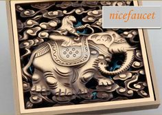 New Bathroom Against Stench Shower Floor Drain Euro Art Carved Floor Drain Cover | eBay