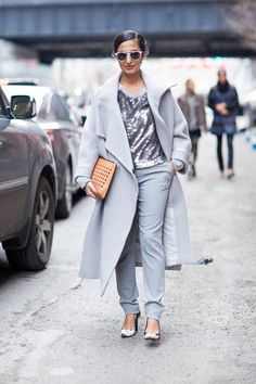 See all the New York street style from autumn/winter '15/'16 - Vogue Australia