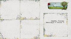 Shabby Floral Overlays - Color 5