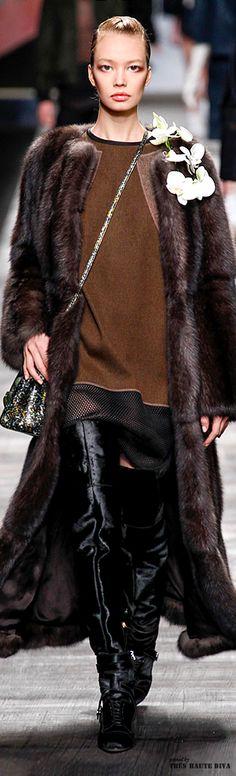 #Milan Fashion Week #Fendi Fall/Winter 2014 RTW