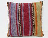 rugs kilim pillow 20x20 sofa pillow sham 50x50 kilim pillow ethnic fabric striped pillow case nursery decor pillow boho pillow cover 27170