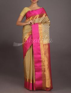 Valini Self-Weave Ornate Gold Border #CoimbatoreSilkSaree