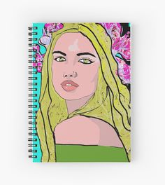 Flower Girl Spiral Notebooks