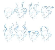 Lovable Suggestions How To Draw Tiefling Horns 2019 Lovable Suggestions How To Draw Tiefling Horns 2 Demon Drawings, Animal Drawings, Cool Drawings, Drawing Sketches, Poses References, Drawing Reference Poses, Hair Reference, Drawing Base, Drawing Techniques
