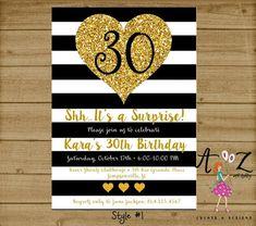 30th Birthday Invitation Surprise Party Invite 30th Birthday