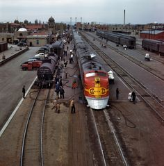 Starting in 1936, the Atchison, Topeka and Santa Fe Railway offered service from Chicago to Los Angeles on their luxurious new train the Sup...