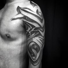 Abstract Optical Illusion Graffiti Tattoo For Men Half Sleeve