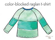 Oliver + S color blocked Field Trip Raglan T-shirt