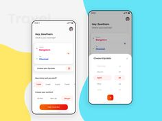 Bus booking app designed by Gowtham. Connect with them on Dribbble; Form Design Web, Flat Web Design, Design Page, App Ui Design, Interface Design, Mobile App Design, Mobile Application Design, Mobile Ui, Bus App
