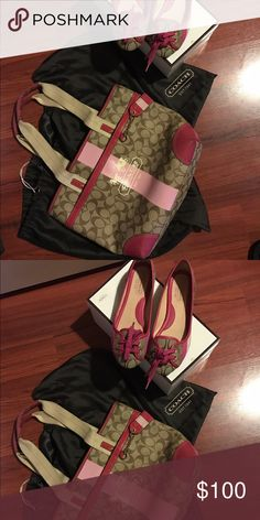 Coach Post is for either item please let me know which item you will like both great condition purse is 100$ shoes are 100$ as well.  So 100$ each item shoes are size 5.5 Coach Bags Shoulder Bags