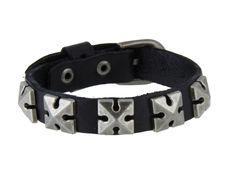 Stylish Leather Bracelet (Black)