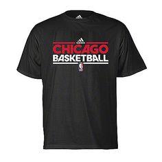 Chicago Bulls Mens Black On-Court Practice Tee: $24.99 #Bulls #Basketball #NBA #Court #Chicago #ChicagoBasketball