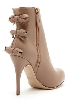 Triple Bow High Heel Bootie - Valentino