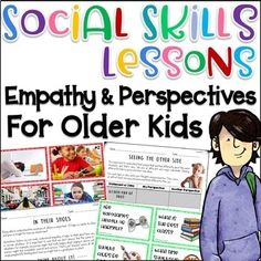Social Skills Lessons for Empathy and Perspective by Pathway 2 Success Social Skills Lessons, Social Skills Activities, Teaching Social Skills, Language Activities, Life Skills, Teaching Kids, Teaching Empathy, Teaching Schools, Teaching Resources