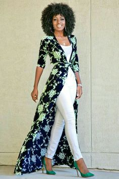 Buy Blue Floral Print Sashes V-neck Fashion Maxi Dress online with cheap prices … Dress Over Pants, White Dress Pants, Silk Pants, Vestidos Fashion, Women's Fashion Dresses, Mode Kimono, Cheap Maxi Dresses, Women's Dresses, Floral Dresses