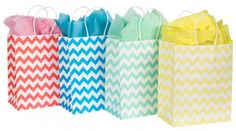 Chevron Gift Bags (Set of 8)