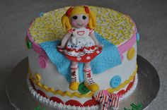 Lalaloopsy fondant doll cake