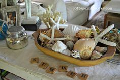 Decorating with seashells #summer #diy