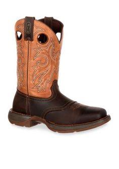 DURANGO Brown And Tan Rebel Saddle Up Western Boot