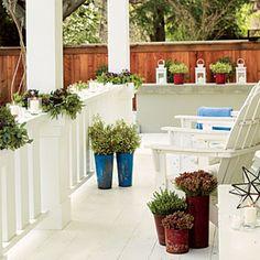 28 festive winter arrangements | Wrap railings with garlands | Sunset.com