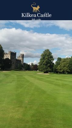 Gorgeous view of the castle from the golf course.