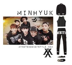 """""""Inspired by Min Hyuk in Monsta X's Trespass MV"""" by yooane ❤ liked on Polyvore featuring Off-White, Vans, minhyuk, kpopoutfit, inspiredbyoutfit and monstax"""