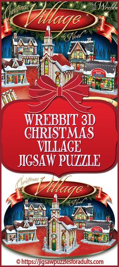 Looking for a fun Christmas Village Jigsaw Puzzle that is sure to put the holiday spirit into the whole family right from the start? This Jigsaw Puzzle by Wrebbit is ideal for kids and adults or for the entire family. Christmas Jigsaw Puzzles, 3d Jigsaw Puzzles, Christmas Puzzle, Christmas Time Is Here, Cozy Christmas, Christmas Gifts, Christmas Decorations, Christmas Ornaments, Difficult Jigsaw Puzzles