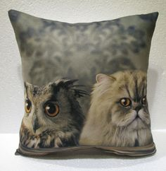 cat & owl pillow cushion home decor modern decoration sofa cover throw 58 #bursaart