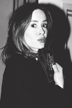 I'm head over heels in love with Sarah Paulson. Such a brilliant actress. Seriously, I fucking love her. Not the standard kind of beauty. Better.