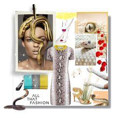 """Snake Print"" by bellamonica ❤ liked on Polyvore"