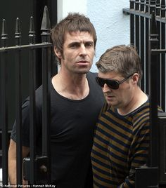 Liam Gallagher receives a visit from his brother Paul. after he arrives back in the UK amid love child allegations Liam Gallagher Oasis, Noel Gallagher, Mod Hair, North London, Coldplay, About Uk, Other People, Indie, Brother