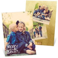 Holiday Photo Cards -- Three Photo Perfection Vertical | Pear Tree Greetings