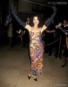 Fran Drescher, l'audacieux style tapisserie en 1994.