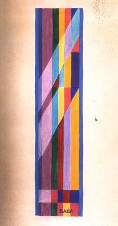 """Giacomo Balla - """"Motivo per sciarpa"""" - tempera su carta (1925)"""