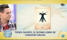 """Christian Gálvez presenta su nuevo libro """"Tienes talento"""" http://www.telecinco.es/quetiempotanfeliz/Christian-Galvez-presenta-nuevo-libro_2_1610205047.html"""