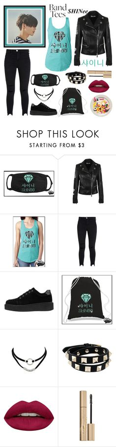 """Taemin tees"" by dougie950 ❤ liked on Polyvore featuring Versus, Valentino, Huda Beauty and Stila"