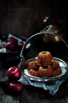 Plum Tea Cakes — kiran+tarun [ R e c i p e b ♥ x ]