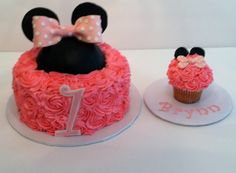 Minnie Mouse Tea Party First Birthday Celebration. Created by CiCI's Cakes & More