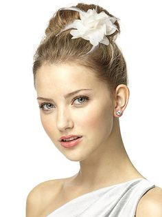 Flower clips in many colors to wear in your hair, on your dress, shoes, or wherever from The Dessy Group