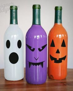 Eerie Faces sticker for Halloween decor halloween nails, roblox halloween costume, sadness halloween costume Faces sticker for Halloween decor Glass Bottle Crafts, Wine Bottle Art, Painted Wine Bottles, Fall Wine Bottles, Wrapped Wine Bottles, Halloween School Treats, Halloween Crafts, Halloween Decorations, Halloween Nails