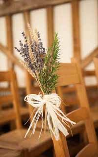 Dried lavender, rosemary and raffia for Aisle Decorations. Lavender available from www.theweddingofmydreams.co.uk #wedding