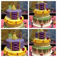 Princess Dessert Table CakeCentral Com. Ally Sweet Creations : Baby Shower One Tier Cake. Welcome Little Princess Diaper Cake Set Pink Silver . Girl Birthday Themes, 4th Birthday, Birthday Cakes, Birthday Parties, Baby Shower Princess, Princess Party, One Tier Cake, Disney Princess Cupcakes, Prince Cake
