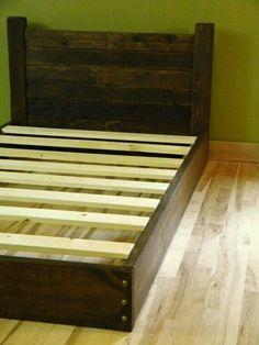platform bed headboard reclaimed wood like the idea of it being platform d - Diy Kingsizekopfteil Plne