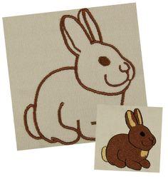 Kaninchen Stickdatei auf www.gabrielles-embroidery.com