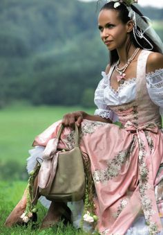traditional german wedding dress - Google Search  (I'll bet my mother's looked nothing like this one.)