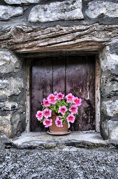 Wabi-Sabi is the marriage of the Japanese Wabi meaning humble and Sabi which suggests beauty. Wabi-Sabi invites us to set aside the pursui. Old Windows, Windows And Doors, Travel Photographie, Garden Windows, Through The Window, Window View, Window Dressings, Old Doors, Window Boxes