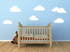 Clouds Vinyl Wall Decal for Baby's Nursery  by BlueCoutureDesign, $15.00