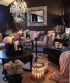 stunning modern dream house interior for living room design ideas Romantic Living Room, Eclectic Living Room, Cozy Living Rooms, Living Room Designs, Living Spaces, Small Living, Dream House Interior, Home Interior, Interior Design