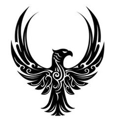 Bird tribal tattoo. Download a Free Preview or High Quality Adobe Illustrator Ai, EPS, PDF and High Resolution JPEG versions.